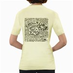 Panic! At The Disco Lyric Quotes Women s Yellow T-Shirt Back