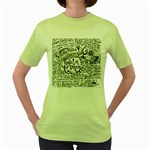 Panic! At The Disco Lyric Quotes Women s Green T-Shirt Front