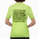Panic! At The Disco Lyric Quotes Women s Green T-Shirt Back
