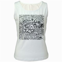 Panic! At The Disco Lyric Quotes Women s White Tank Top