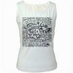 Panic! At The Disco Lyric Quotes Women s White Tank Top Front