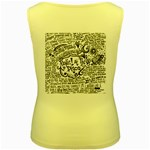 Panic! At The Disco Lyric Quotes Women s Yellow Tank Top Back