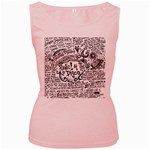 Panic! At The Disco Lyric Quotes Women s Pink Tank Top Front