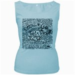 Panic! At The Disco Lyric Quotes Women s Baby Blue Tank Top Front