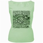 Panic! At The Disco Lyric Quotes Women s Green Tank Top Front