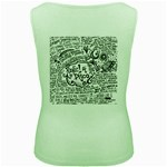 Panic! At The Disco Lyric Quotes Women s Green Tank Top Back