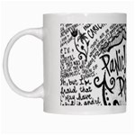 Panic! At The Disco Lyric Quotes White Mugs Left
