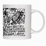 Panic! At The Disco Lyric Quotes White Mugs Right