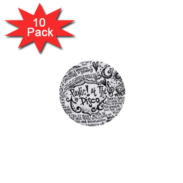 Panic! At The Disco Lyric Quotes 1  Mini Buttons (10 pack)