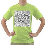 Panic! At The Disco Lyric Quotes Green T-Shirt Front