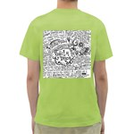 Panic! At The Disco Lyric Quotes Green T-Shirt Back