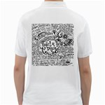 Panic! At The Disco Lyric Quotes Golf Shirts Back