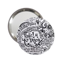 Panic! At The Disco Lyric Quotes 2.25  Handbag Mirrors