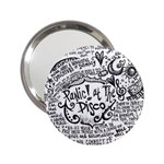 Panic! At The Disco Lyric Quotes 2.25  Handbag Mirrors Front