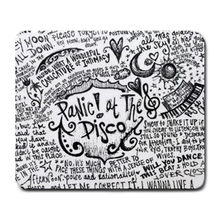 Panic! At The Disco Lyric Quotes Large Mousepads