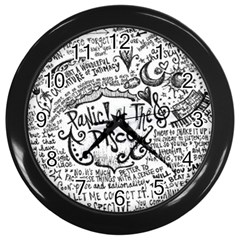 Panic! At The Disco Lyric Quotes Wall Clocks (black)