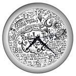 Panic! At The Disco Lyric Quotes Wall Clocks (Silver)  Front