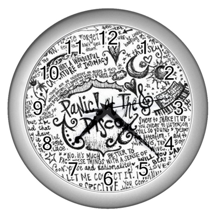 Panic! At The Disco Lyric Quotes Wall Clocks (Silver)