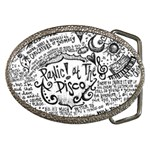 Panic! At The Disco Lyric Quotes Belt Buckles Front
