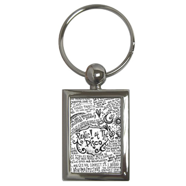 Panic! At The Disco Lyric Quotes Key Chains (Rectangle)
