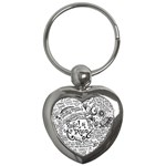 Panic! At The Disco Lyric Quotes Key Chains (Heart)  Front