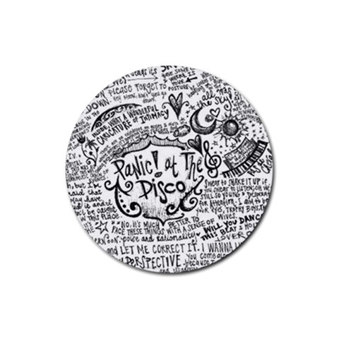 Panic! At The Disco Lyric Quotes Rubber Coaster (Round)