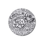Panic! At The Disco Lyric Quotes Rubber Round Coaster (4 pack)  Front