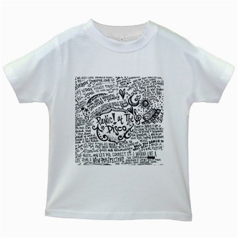 Panic! At The Disco Lyric Quotes Kids White T-Shirts