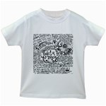 Panic! At The Disco Lyric Quotes Kids White T-Shirts Front