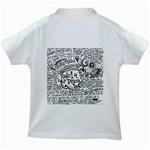 Panic! At The Disco Lyric Quotes Kids White T-Shirts Back