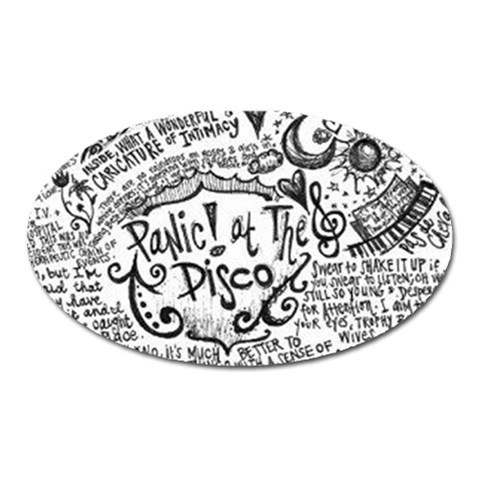 Panic! At The Disco Lyric Quotes Oval Magnet
