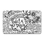 Panic! At The Disco Lyric Quotes Magnet (Rectangular) Front