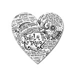 Panic! At The Disco Lyric Quotes Heart Magnet Front