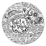 Panic! At The Disco Lyric Quotes Magnet 5  (Round) Front