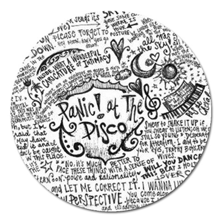 Panic! At The Disco Lyric Quotes Magnet 5  (Round)