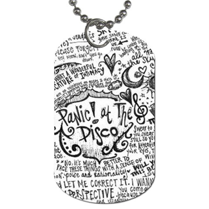 Panic! At The Disco Lyric Quotes Dog Tag (One Side)