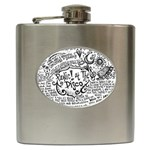 Panic! At The Disco Lyric Quotes Hip Flask (6 oz) Front