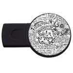 Panic! At The Disco Lyric Quotes USB Flash Drive Round (1 GB)  Front