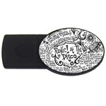 Panic! At The Disco Lyric Quotes USB Flash Drive Oval (2 GB)  Front