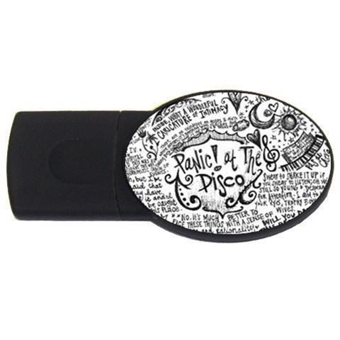 Panic! At The Disco Lyric Quotes USB Flash Drive Oval (1 GB)