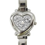 Panic! At The Disco Lyric Quotes Heart Italian Charm Watch Front