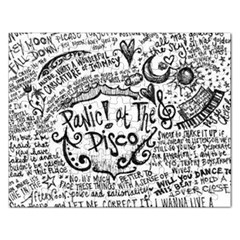 Panic! At The Disco Lyric Quotes Rectangular Jigsaw Puzzl