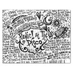 Panic! At The Disco Lyric Quotes Rectangular Jigsaw Puzzl Front