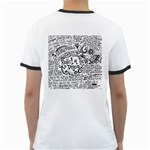 Panic! At The Disco Lyric Quotes Ringer T-Shirts Back