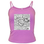 Panic! At The Disco Lyric Quotes Dark Spaghetti Tank Front