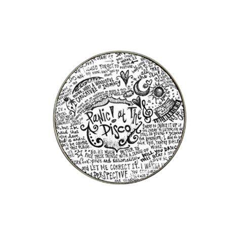 Panic! At The Disco Lyric Quotes Hat Clip Ball Marker (4 pack)