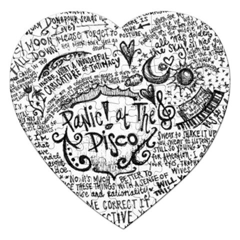 Panic! At The Disco Lyric Quotes Jigsaw Puzzle (Heart)