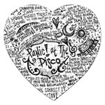 Panic! At The Disco Lyric Quotes Jigsaw Puzzle (Heart) Front