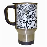Panic! At The Disco Lyric Quotes Travel Mugs (White) Left
