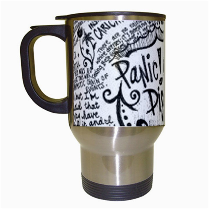 Panic! At The Disco Lyric Quotes Travel Mugs (White)